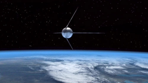 Sputnik 1 launched October 4, 1957